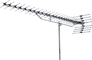 高性能形UHF27素子アンテナ(ロー・ミドルチャンネル・ステンレス)YAL114-ULS