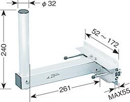 ベランダ用取付金具(BS・CSアンテナ用)MHV-116
