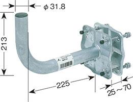 ベランダ用取付金具(BS・CSアンテナ用)MHV-117