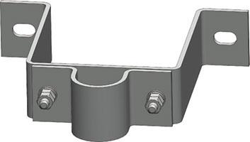 側面金具(上・50A用)突出200mmMW-50K-200T