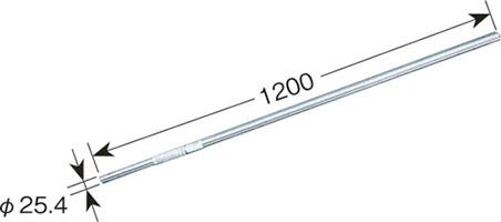 リブパイプ(1.2m・溶融亜鉛メッキ鋼管)MZ-120