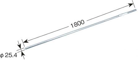 リブパイプ(1.8m・溶融亜鉛メッキ鋼管)MZ-180