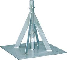 自立形アンテナマストベース(40A用・ステンレス)MHB-50YS