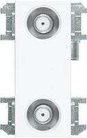 壁面テレビ端子2端子形(フィルター付)[2K・4K・8K対応]WU77F2S