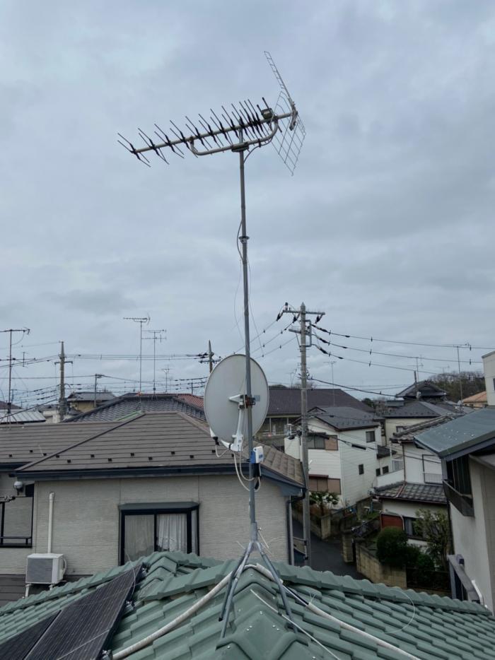 久喜市本町|八木式アンテナ工事・BS・CSアンテナ工事