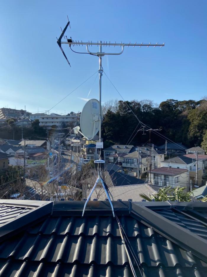 鶴見区寺谷|八木式アンテナ工事・BS・CSアンテナ工事