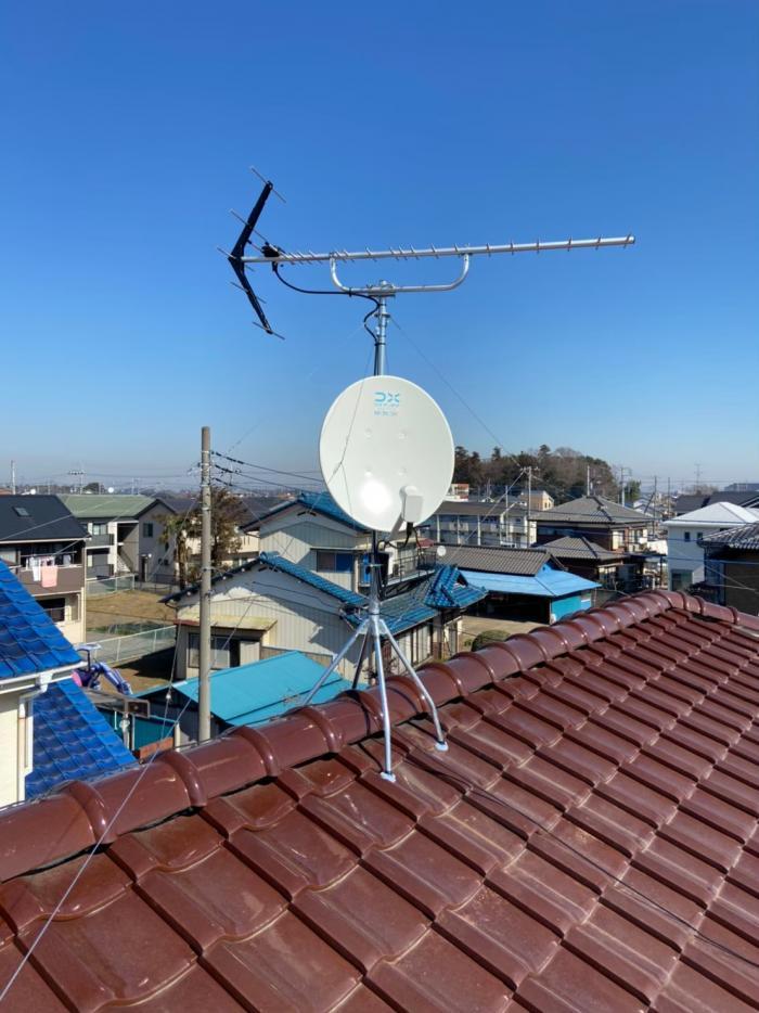 野田市尾崎|八木式アンテナ・BS・CSアンテナ工事