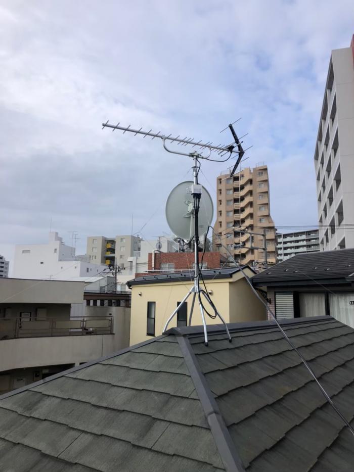 さいたま市浦和区岸町 UHFアンテナ+BSアンテナ工事