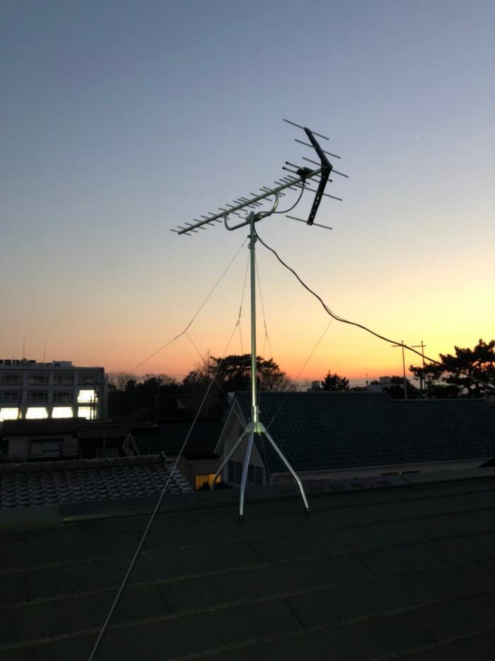 越谷市南荻島|UHFアンテナ工事