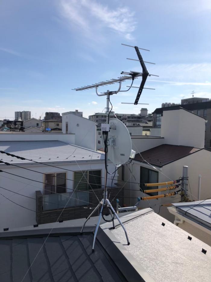 浦和区北浦和|UHFアンテナ+BSアンテナ工事|オープンハウス