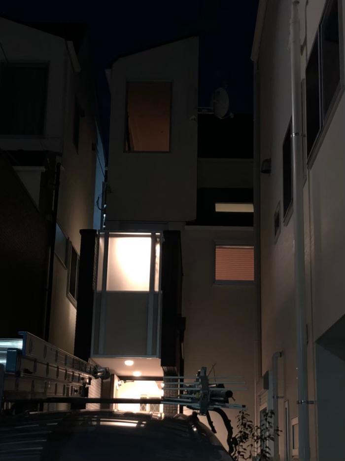 中野区中野|デザインアンテナ+BSアンテナ工事|藤和ハウス