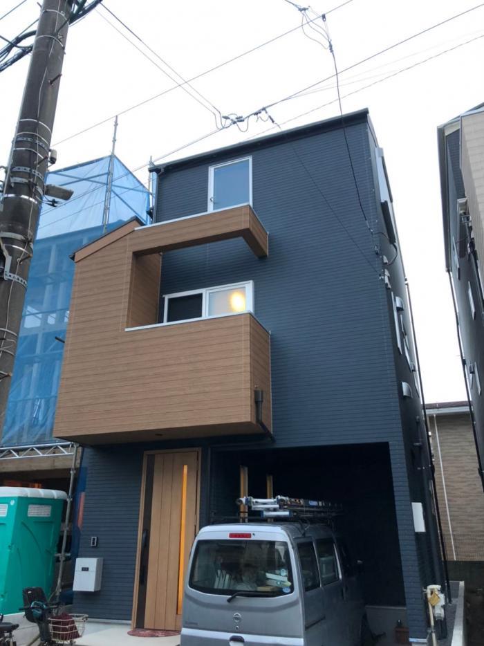 中野区上高田|デザインアンテナ+BSアンテナ工事|昭和建設