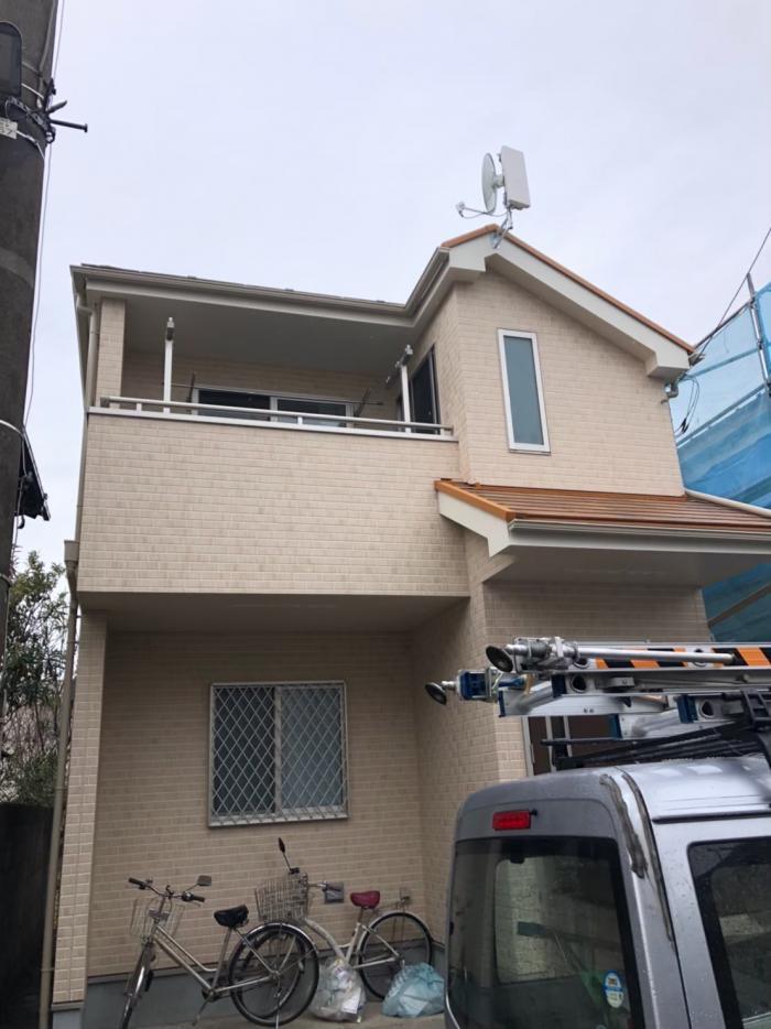 西東京市新町|デザインアンテナ+BSアンテナ工事|ユニバーサル