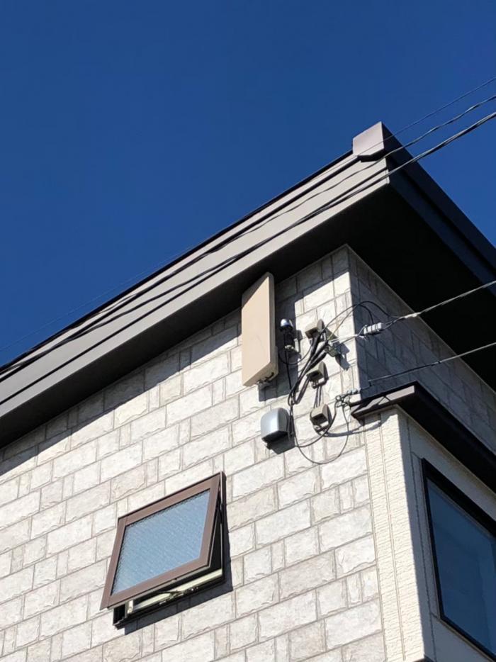 岩槻区美園東 デザインアンテナ+BSアンテナ工事