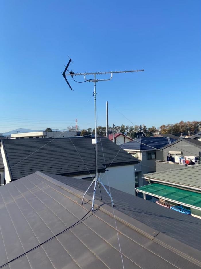 綾瀬市深谷南|UHFアンテナ+アンテナ撤去工事