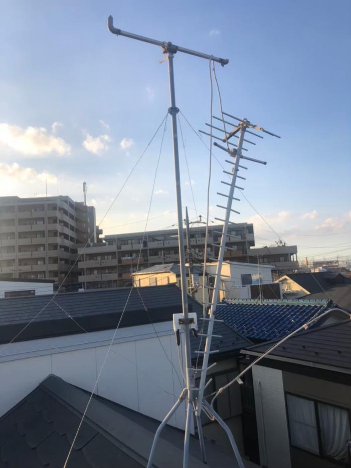 三郷市戸ヶ崎|UHFアンテナ工事