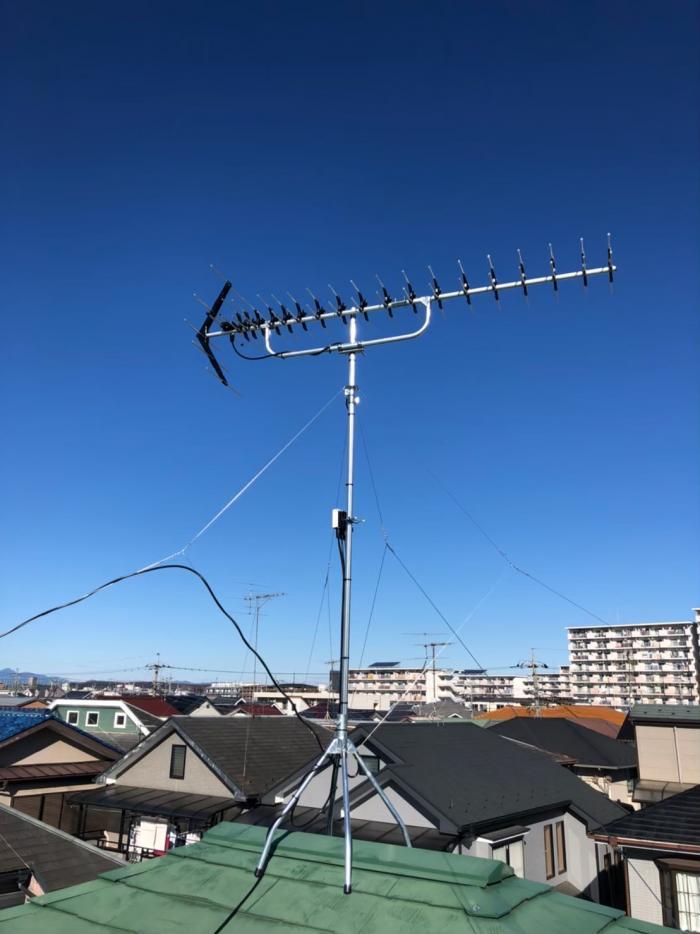 武蔵村山市大南|高性能UHFアンテナ工事