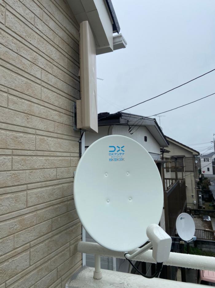 川越市霞ヶ関北|デザインアンテナ工事・BS・CS