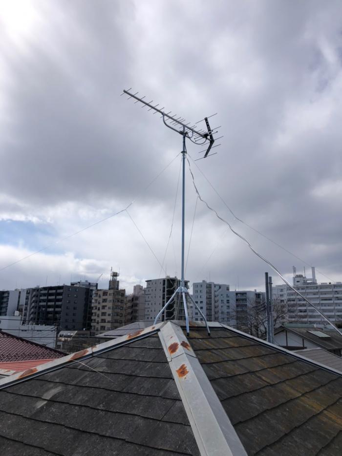 北区西ヶ原|UHFアンテナ+BSアンテナ工事