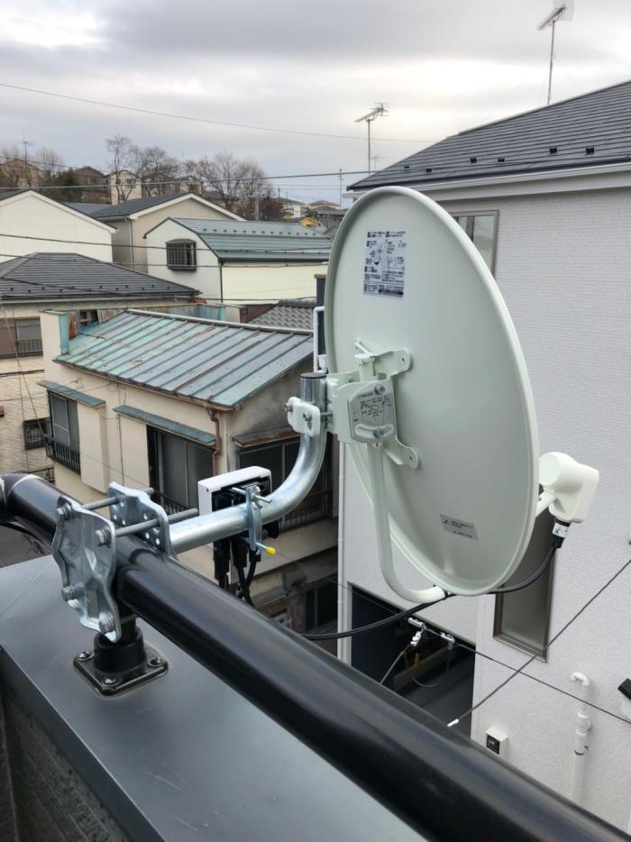 富士見市鶴間|BSアンテナ工事