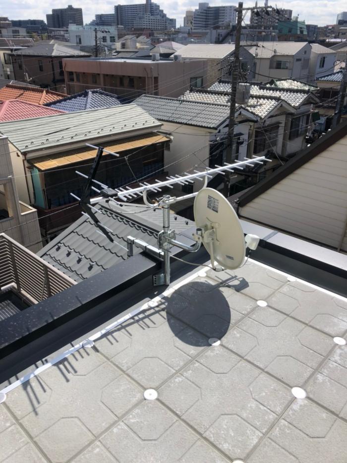江東区南砂|UHFアンテナ+BSアンテナ工事