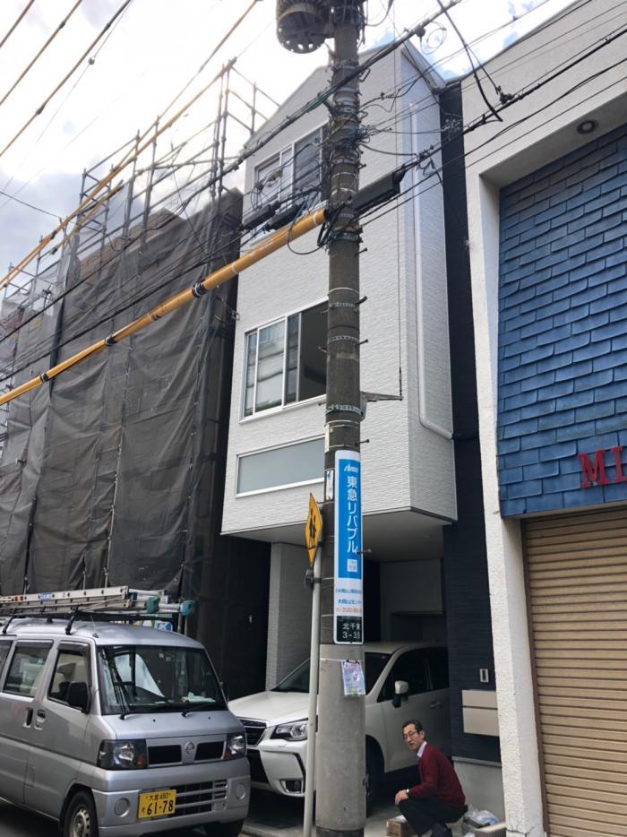 大田区北千束|デザインアンテナ+BSアンテナ工事