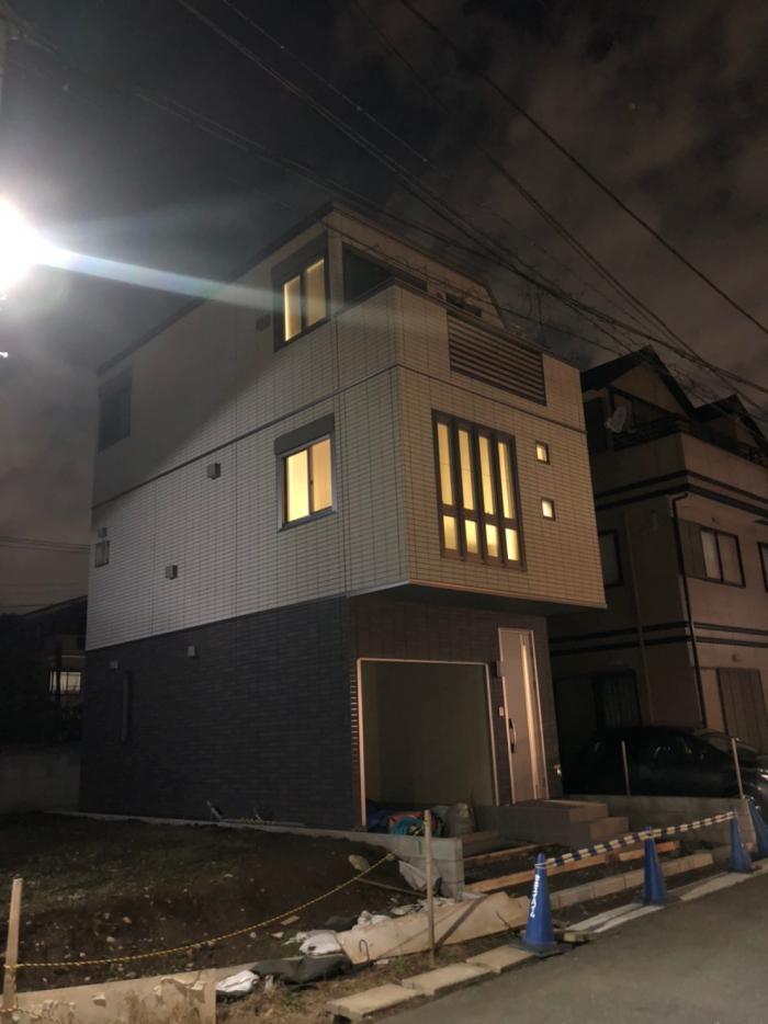 中原区栃木陣屋町|横型デザインアンテナ工事