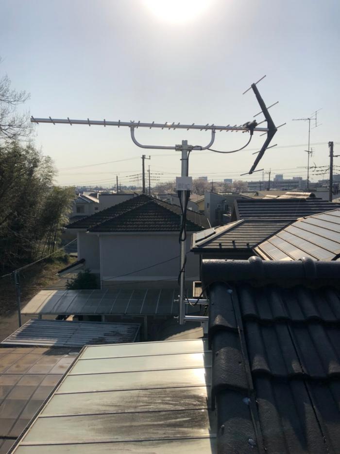上尾市上平中央|UHFアンテナ設置+撤去工事