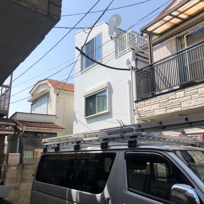 大田区蒲田本町|デザインアンテナ+BSアンテナ工事