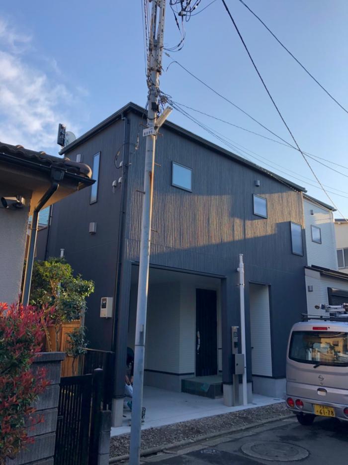 足立区西新井本町|デザインアンテナ+BSアンテナ工事