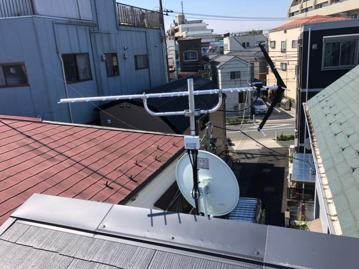 板橋区大谷口北町|UHFアンテナ+BSアンテナ工事