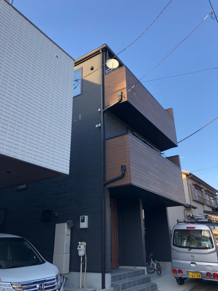 さいたま市中央区下落合|デザインアンテナ+BSアンテナ工事