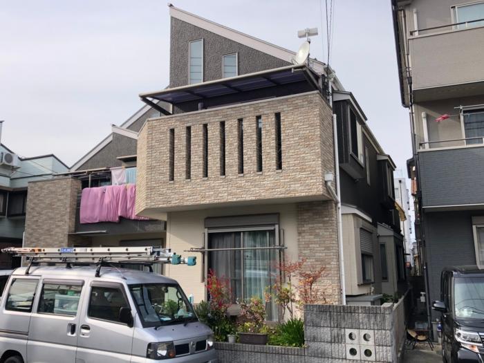 八王子市元横山町|デザインアンテナ+BSアンテナ工事