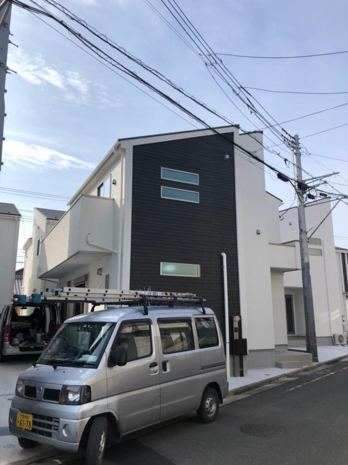 蕨市錦町|デザインアンテナ+BSアンテナ工事