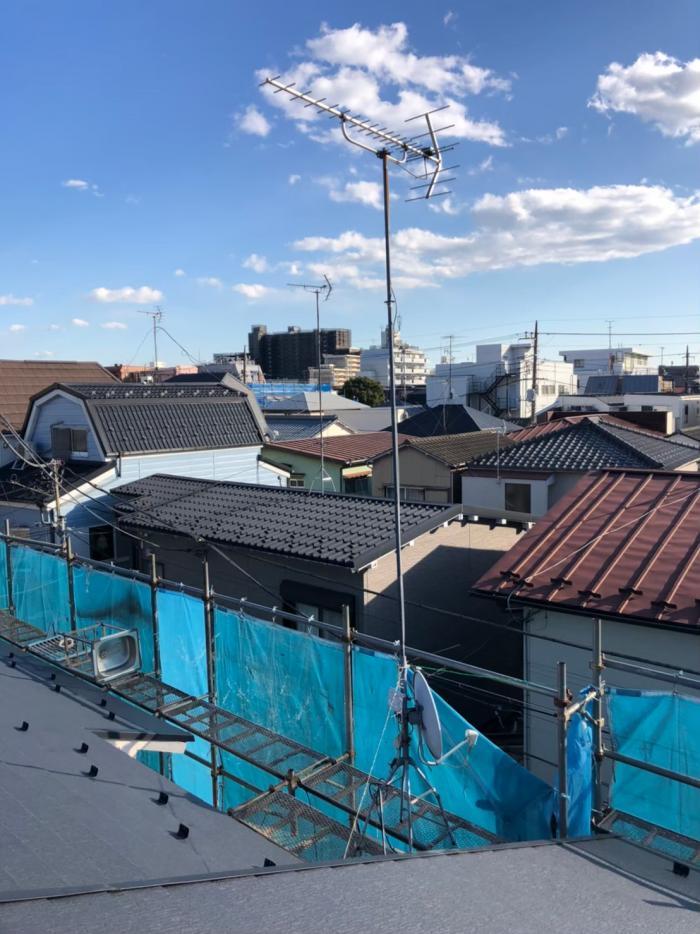 大田区南蒲田 UHFアンテナ+BSアンテナ工事