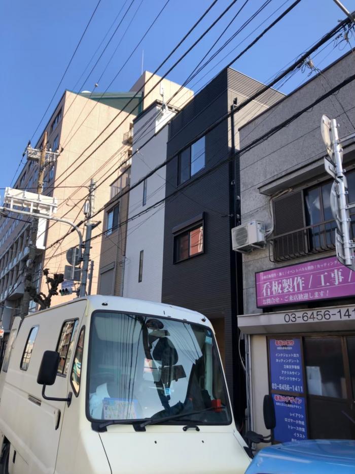 墨田区本所|デザインアンテナ+BSアンテナ工事