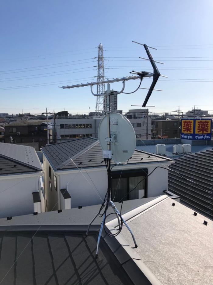 さいたま市大宮区櫛引町|UHFアンテナ+BSアンテナ工事