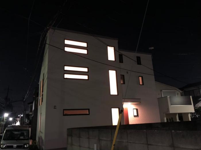 中野区江原町|横型デザインアンテナ工事
