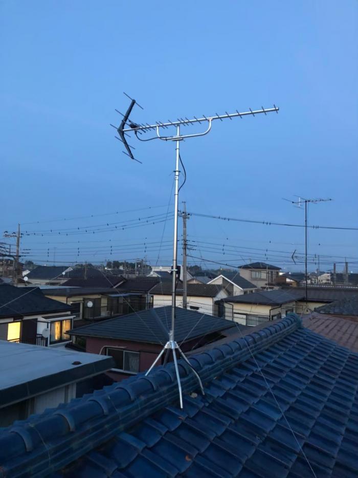 さいたま市南区堤外|UHFアンテナ工事