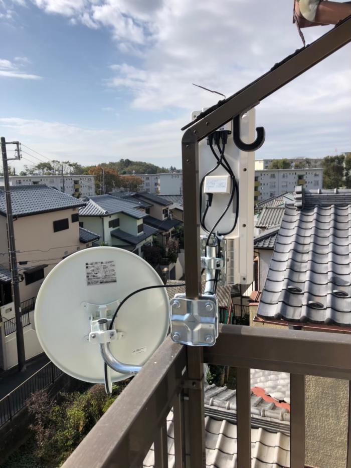 船橋市金杉|デザインアンテナ+BSアンテナ工事