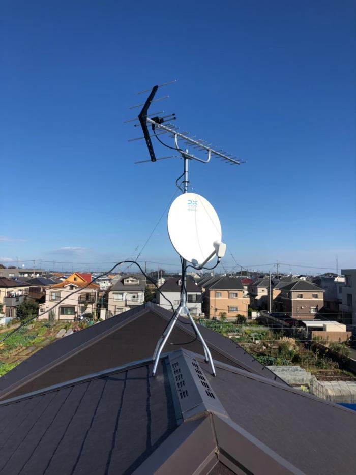 さいたま市南区南本町|UHFアンテナ+BSアンテナ工事