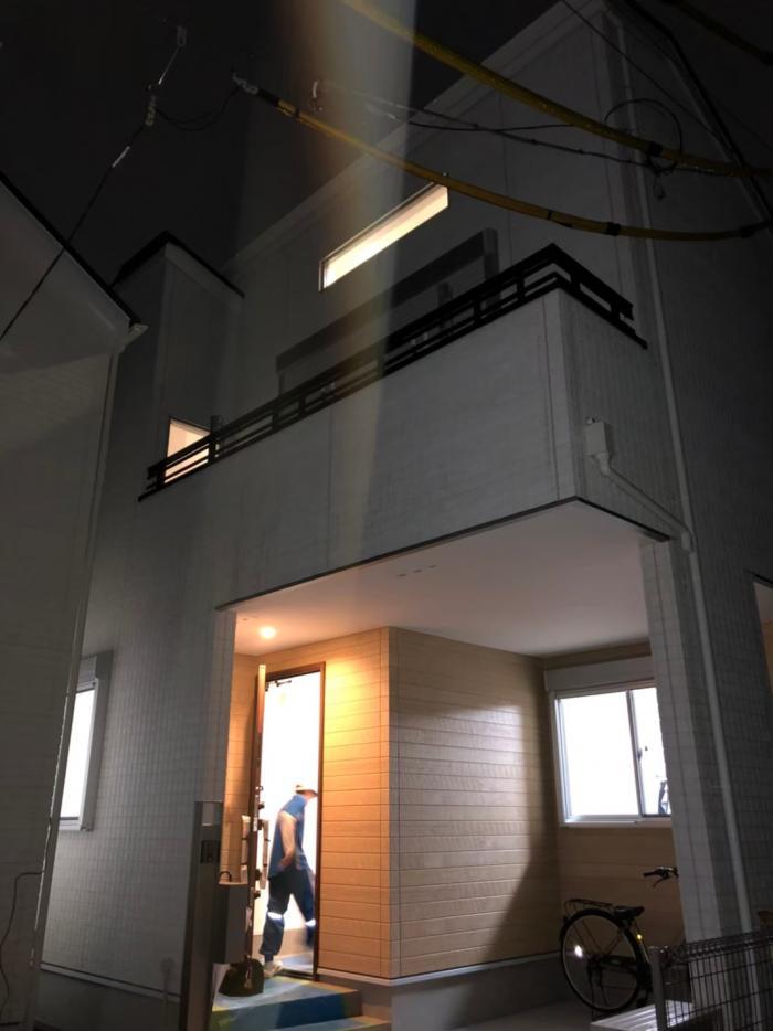 調布市多摩川|横型デザインアンテナ工事