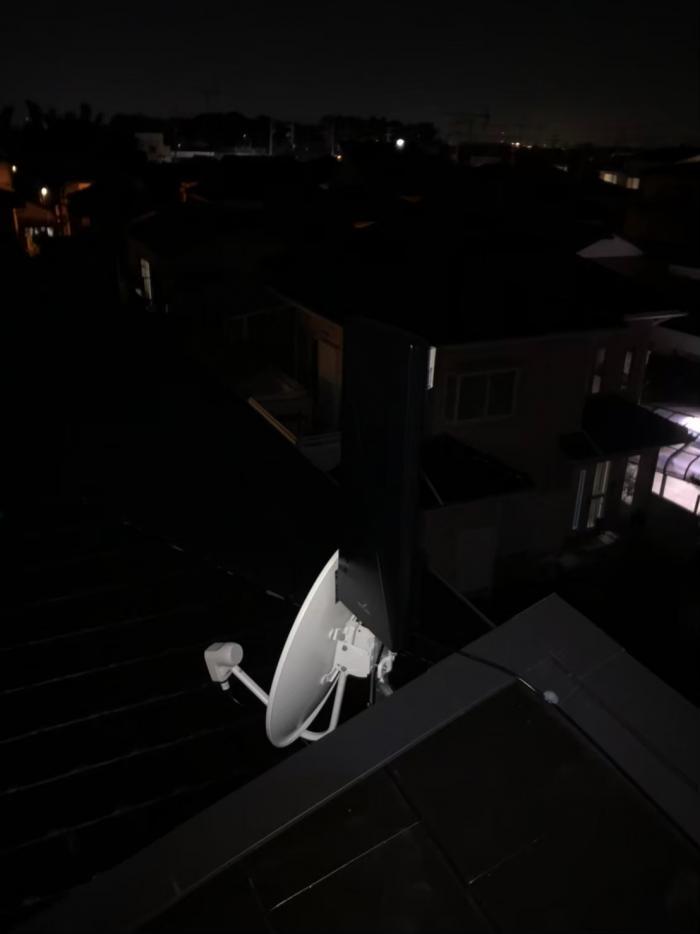 さいたま市岩槻区釣上新田|デザインアンテナ+BSアンテナ工事