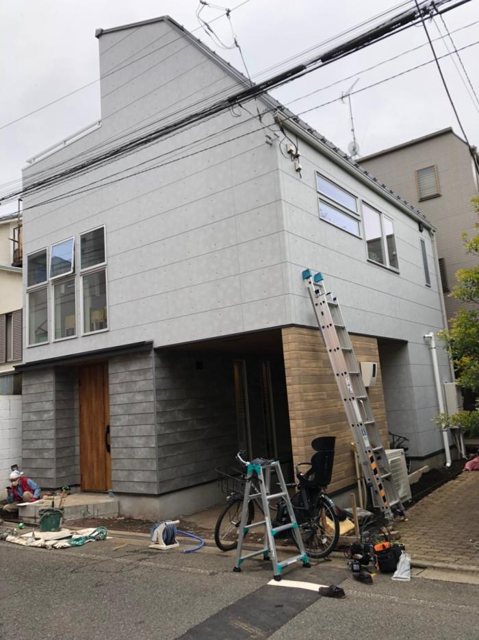目黒区目黒本町|横型デザインアンテナ工事