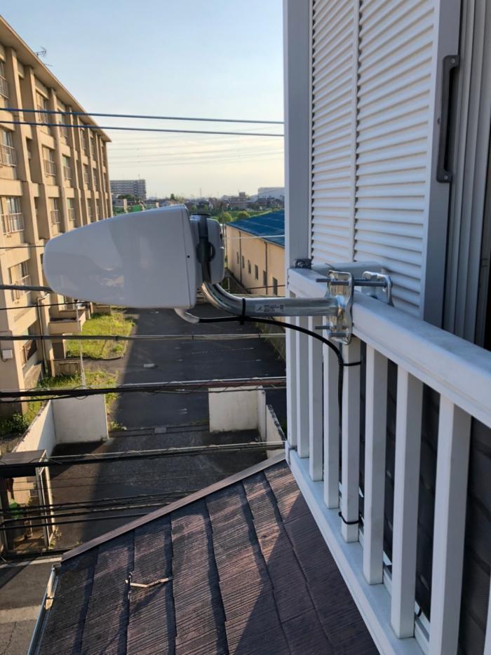 草加市西町|横型デザインアンテナ工事