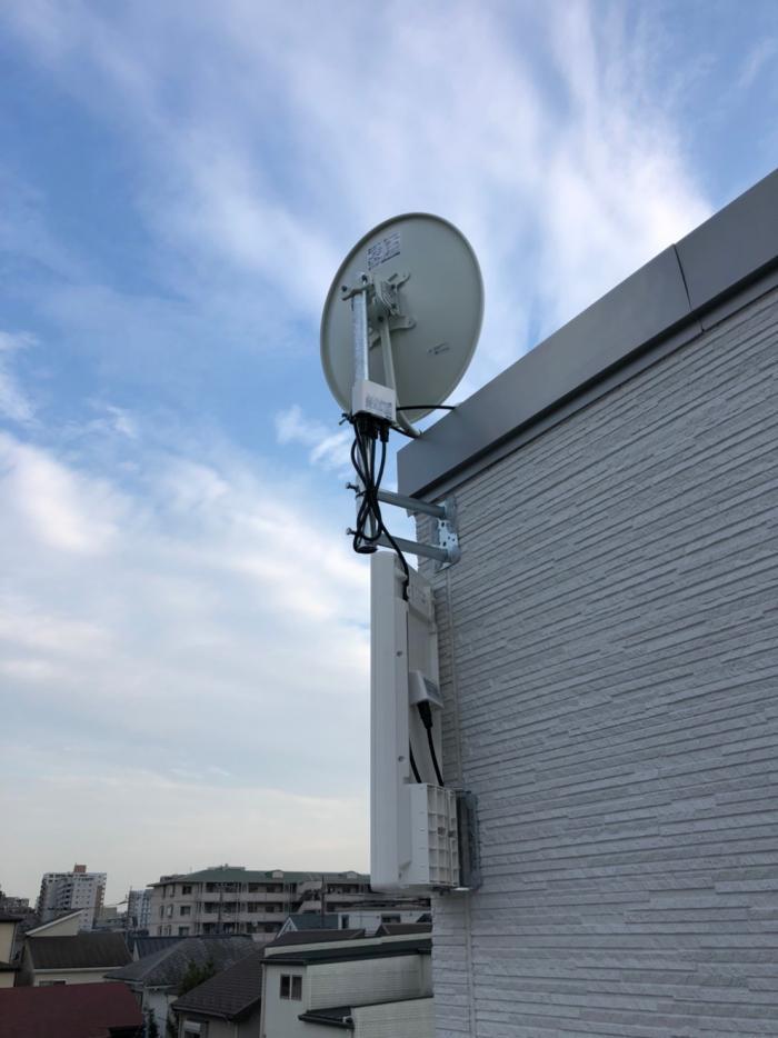 さいたま市西区内野本郷|デザインアンテナ+BSアンテナ工事