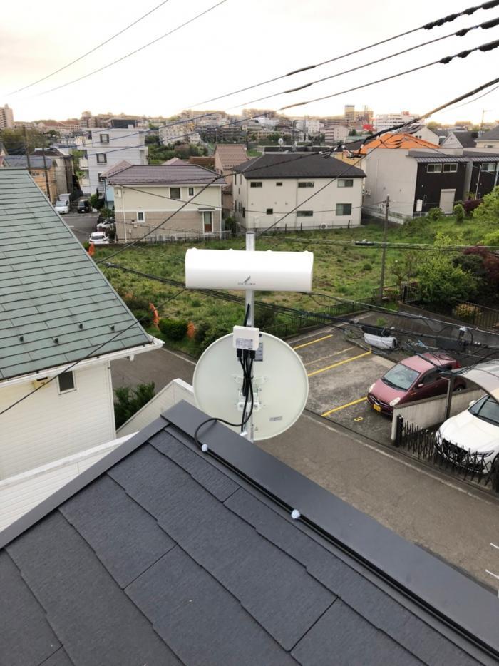 横浜市青葉区さつきが丘|デザインアンテナ+BSアンテナ工事