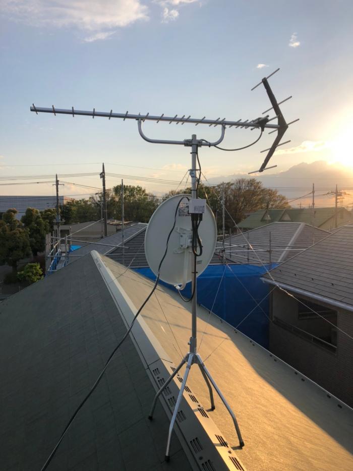 さいたま市大宮区天沼町|UHFアンテナ+BSアンテナ工事