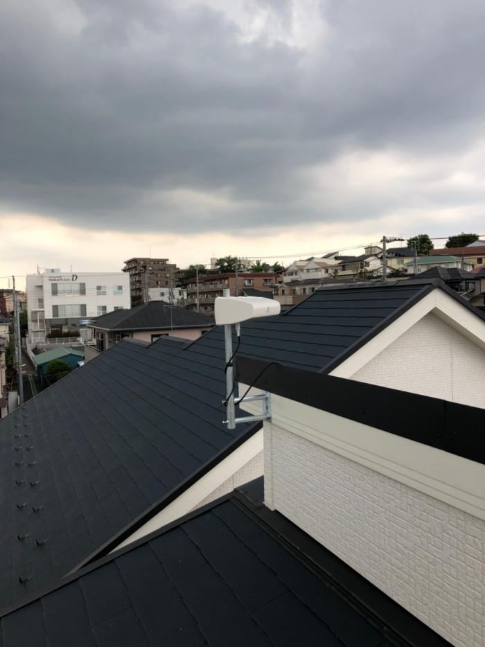 さいたま市大宮区錦町|横型デザインアンテナ工事