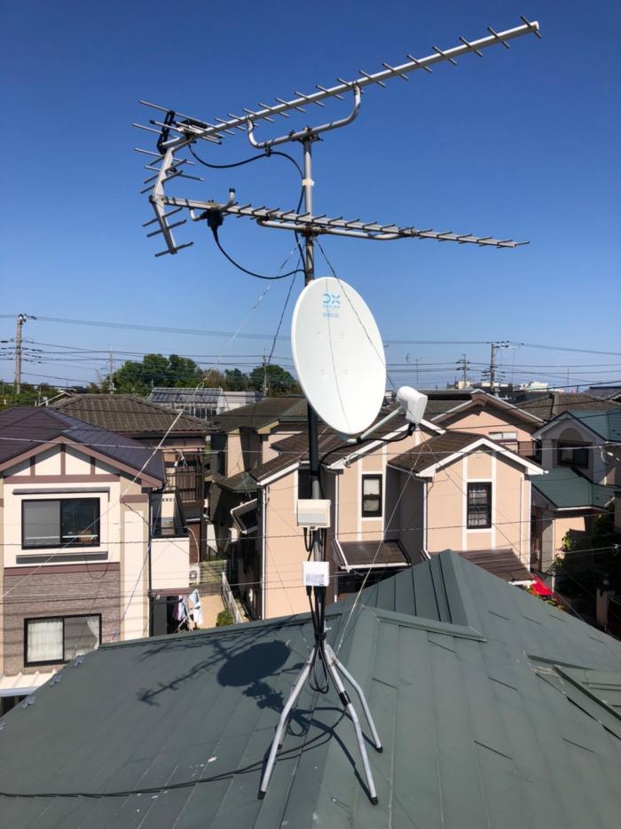 さいたま市見沼区加田屋新田|BSアンテナ増設工事